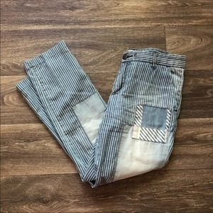 Current Elliot Striped Patchwork Pants